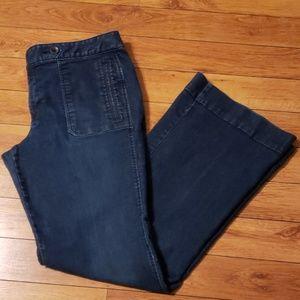 Ann Taylor Loft modern flare blue jeans